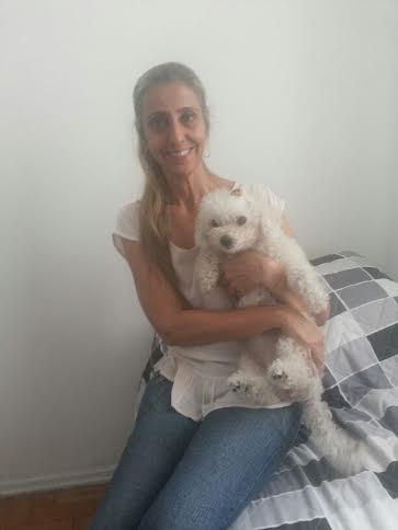 Cindy com sua mãe Cristina