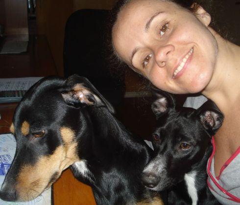 Hulk e Laika com a mamãe Bianca