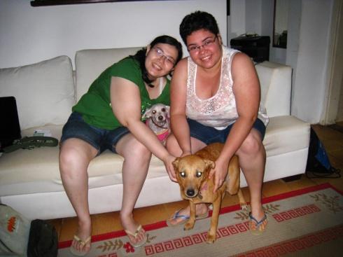 Louise com sua família