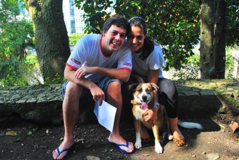 Rodrigo, Raquel e Princesa (hoje, Stella)