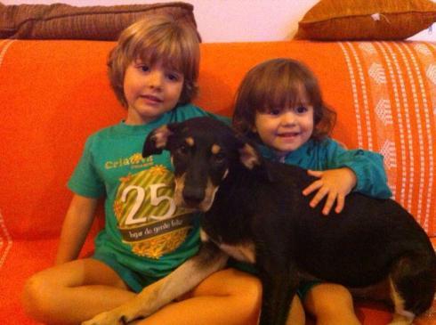 João com seus irmãozinhos lindos