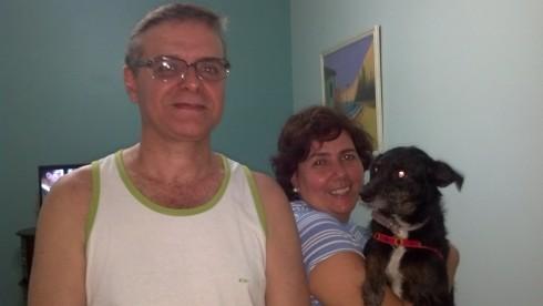 Melissa com seus pais, Nelson e Eliza